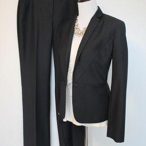 CALVIN KLEIN Size 8 Gray Pant Suit Blazer Pants